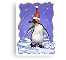 Penguin Christmas Canvas Print