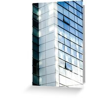 business office glass building  Greeting Card
