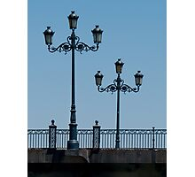 Lamps on the Triana Bridge, Seville Photographic Print