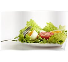 Green Leafy Salad Poster