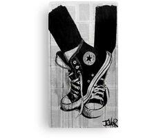 black Canvas Print