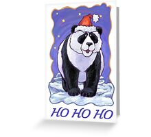 Panda Bear Christmas Card Greeting Card