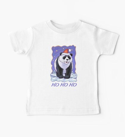 Panda Bear Christmas Card Baby Tee