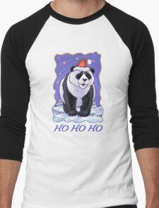 Panda Bear Christmas Card Men's Baseball ¾ T-Shirt