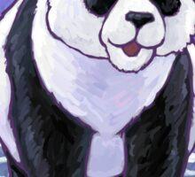 Panda Bear Christmas Card Sticker