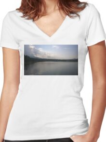 Lake View Women's Fitted V-Neck T-Shirt