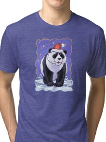 Panda Bear Christmas Tri-blend T-Shirt