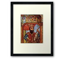 Wall Detail from Golestan Palace Framed Print