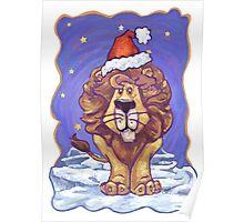 Lion Christmas Poster