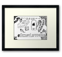 Occupy Leftovers cartoon Framed Print