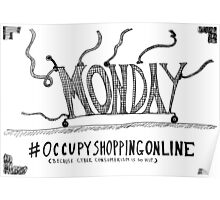 Occupy Cyber Monday cartoon Poster