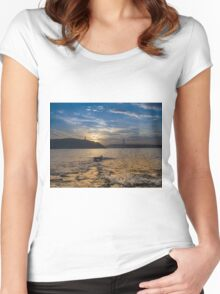 Wave's just hit the shore Women's Fitted Scoop T-Shirt