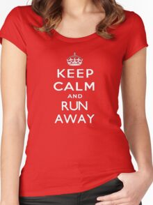 Keep calm and run away. Women's Fitted Scoop T-Shirt