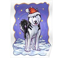 Husky Christmas Poster