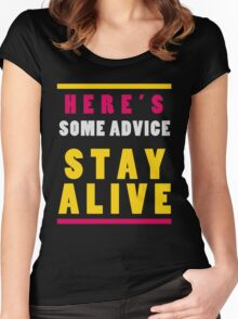 Stay Alive Women's Fitted Scoop T-Shirt