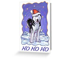 Husky Christmas Card Greeting Card