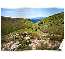 Pyrenean Slopes, Catalonia Poster