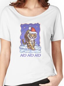 Tiger Christmas Card Women's Relaxed Fit T-Shirt