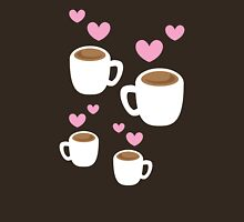 Coffee cups group with love hearts cute! T-Shirt