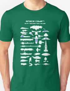 Space Cadet Ship Recognition Guide - Blue T-Shirt