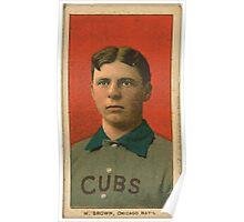 Benjamin K Edwards Collection Three Finger Brown Chicago Cubs baseball card portrait 003 Poster