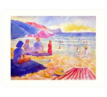 Beach Scene, Muizenberg, South Africa Art Print
