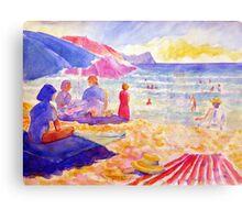 Beach Scene, Muizenberg, South Africa Canvas Print