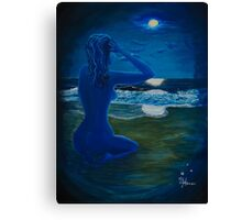 Girl At The Shore Canvas Print
