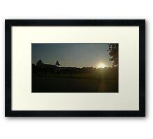 Vienna Silhouette Framed Print