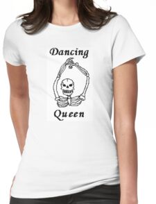 Dancing Queen Skeleton Womens Fitted T-Shirt
