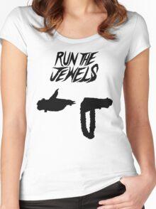 Run the Jewels Silhouette Black Women's Fitted Scoop T-Shirt