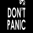 DON'T PANIC iPhone case by olavlj