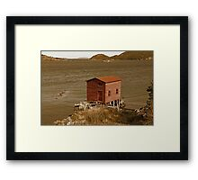 The Red Fishing House Framed Print