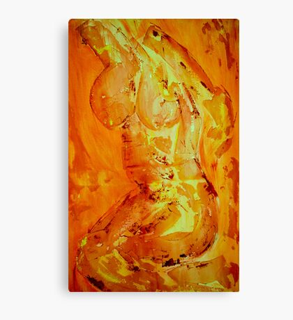 Abstract naked body Canvas Print