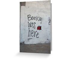Banksey Greeting Card