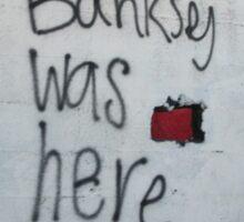 Banksey Sticker