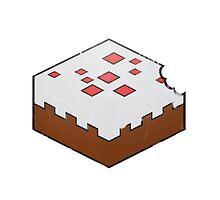 Minecraft Cake Bite by JoshBeck