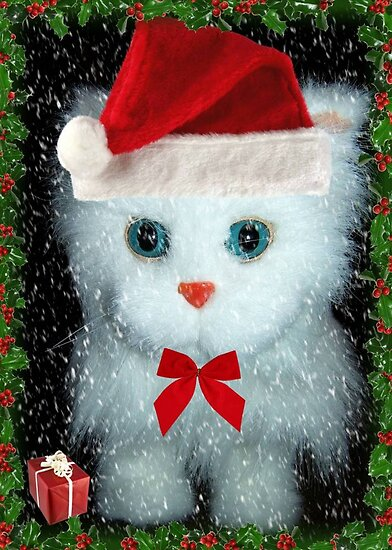 I've been a good kitty Santa!!! © by Dawn M. Becker