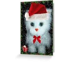 I've been a good kitty Santa!!! © Greeting Card