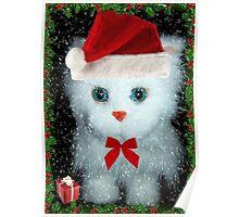 I've been a good kitty Santa!!! © Poster