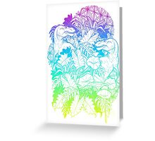 Rainbow TRex Greeting Card