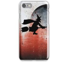 Halloween....A witch and her broomstick iPhone Case/Skin