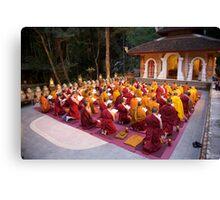 Evening chanting, Wat Palad, Chiang Mai, Thaiiand Canvas Print