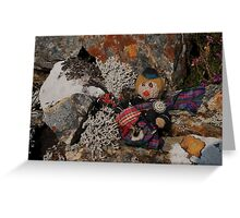 Bagpiper Scotty on the Rocks Greeting Card