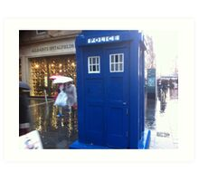 The Tardis on  Buchanan Street Art Print
