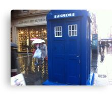 The Tardis on  Buchanan Street Canvas Print