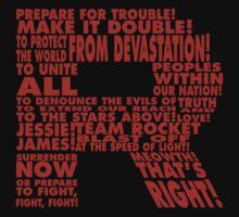 Team Rocket R Typography