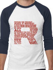 Team Rocket R Typography Men's Baseball ¾ T-Shirt