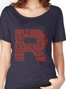 Team Rocket R Typography Women's Relaxed Fit T-Shirt