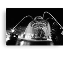 Nuit à Place de la Concorde Canvas Print